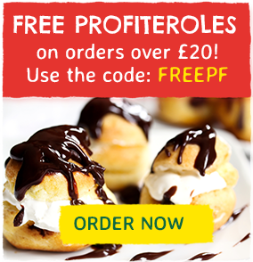 Free profiteroles, use code: FREEPF